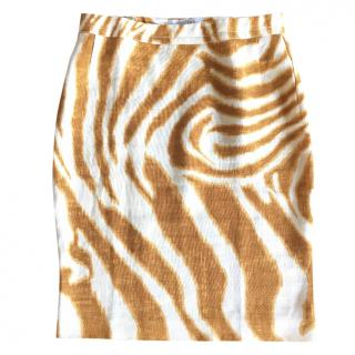 Max Mara animal print linen skirt