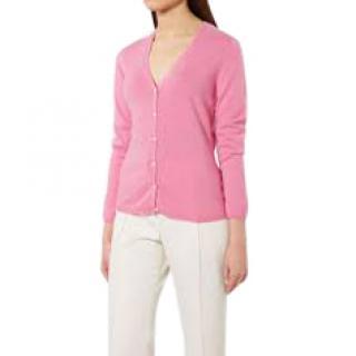N.Peal v neck pink cashmere cardigan