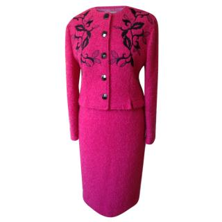 Guy Laroche Vintage Couture Boucle' Wool Suit