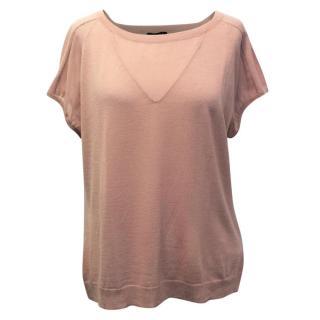Escada Dusky Pink Wool and Silk T-Shirt