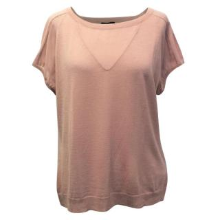 Escada Dusky Pink Wool and Silk T-Shirt
