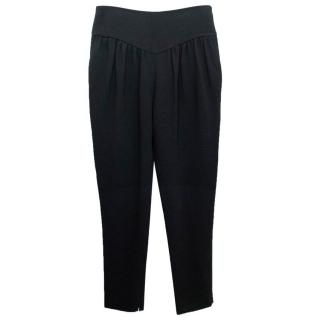 Chloe Black Double Crepe Tapered Trousers