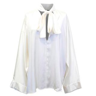 Haider Ackermann Cream Silk Blouse
