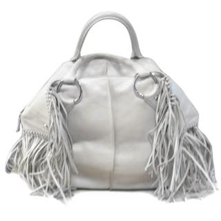 Tods Cream Tassel Bag