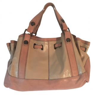 Gerard Darel nude coloured leather bag
