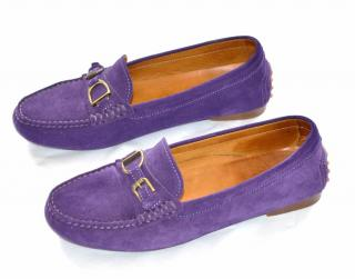 Ralph Lauren Collection suede loafers