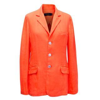 Polo Ralph Lauren Neon Orange Relaxed Fit Blazer