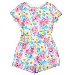 Manoush Alice Multicoloured Embellished Floral Playsuit