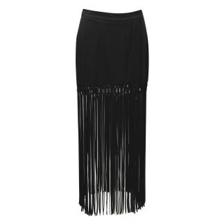 Cris Barros Black Fringe Skirt