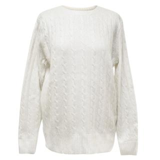 Zoe Jordan Silve Cable Knit Cashmere Blend Jumper
