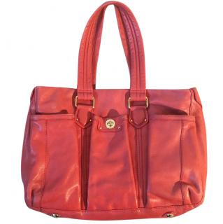 Marc by Marc Jacobs leather orange tote bag - Size Large