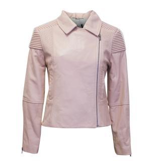 Zoe Jordan Pink Leather Biker Jacket
