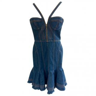 McQ by Alexander McQueen denim corset dress