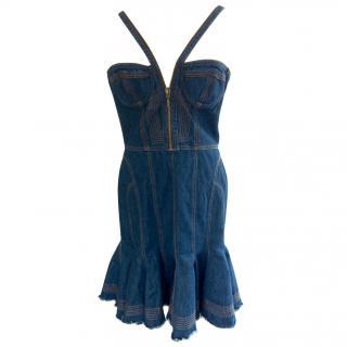 McQ by Alexander McQueen denim corset dress
