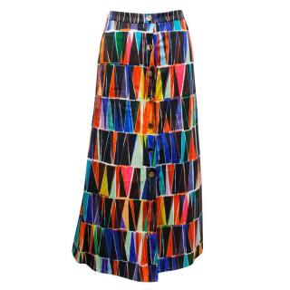 Saloni Leah Geometric Printed Skirt