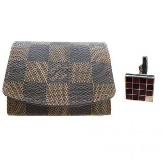 Louis Vuitton Cufflinks and Pouch