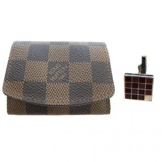 Louis Vuitton Cufflinks and Pouch