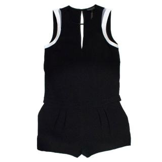 Rag and Bone Black and White Lana Romper