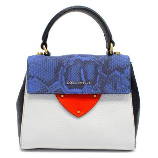 Coccinelle White, Red and Blue Small Leather Bag