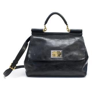 Dolce & Gabbana Black Large Sicily Bag