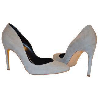 Rupert Sanderson Winona Vamp Grey Suede High Heel Pumps