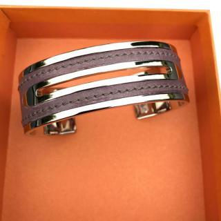 Tods purple leather bracelet