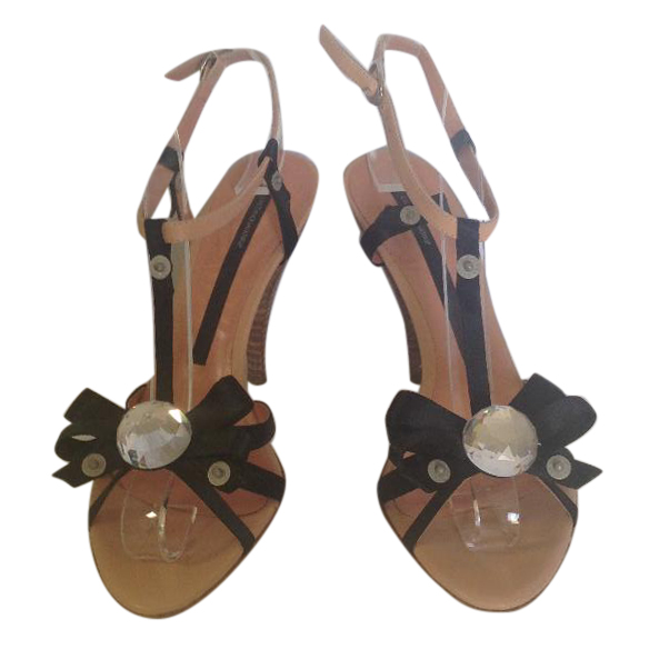 Gaetano Navarra high sandals with stones