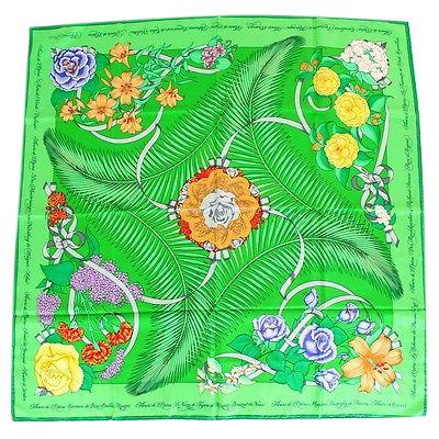 Hermes Vintage Silk Scarf Fleur de l'opera