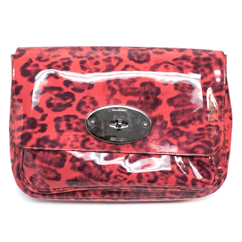 d6958f0ffe Mulberry Smudged Leopard Bayswater Clutch