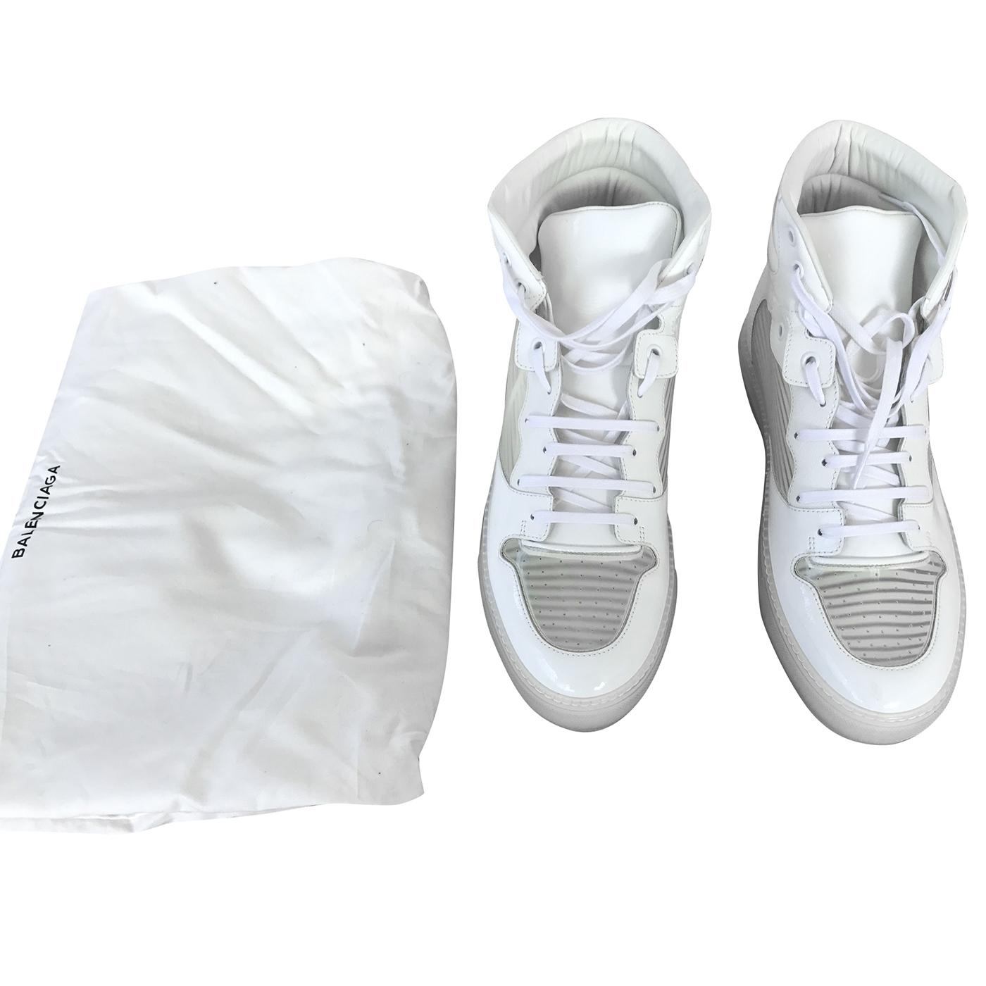 balenciaga high top white