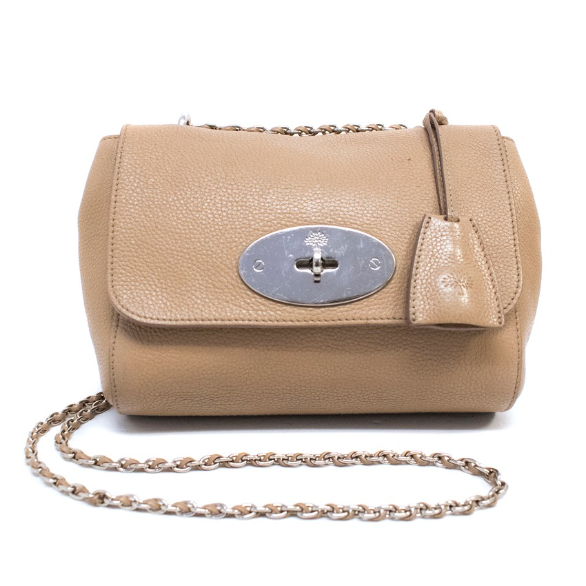 38845b25e3 Mulberry Rosewater Small Lily Classic Grain Shoulder Bag
