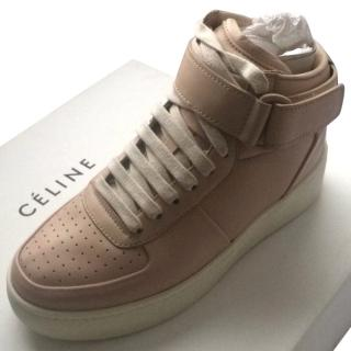 Celine Leather High Top Trainers