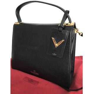 Valentino My Rockstud Elephant Effect Black Leather tote bag