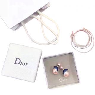 Dior Tribal blue & pink earrings