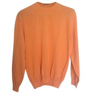 Agnona orange cotton pull