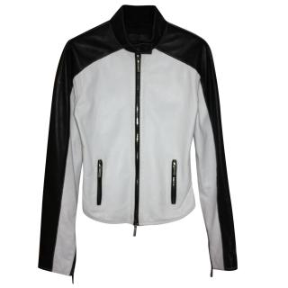 Jitrois Leather Jacket Fr 36 RRPgbp4,000