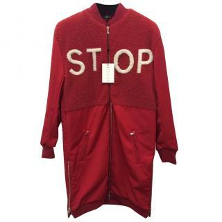 Anya Hindmarsh Stop Shearling bomber