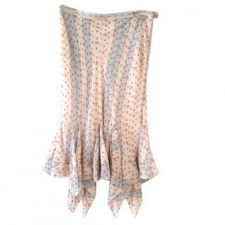 Christian Dior boutique silk skirt