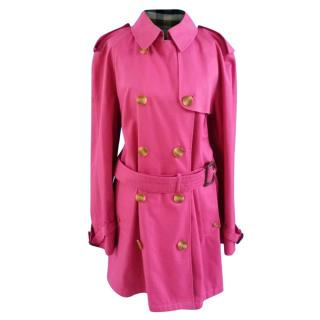 Aquascutum Cotton Blend Ladies Classic Belted Trench Coat