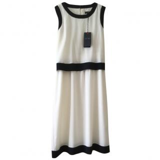 Armani Jeans Cream and Navy Dress