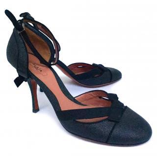 ALAIA Black Ankle Strap Heels