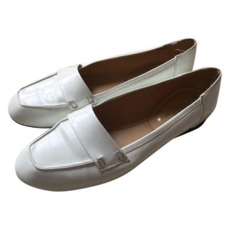 Robert Clergerie White Loafers