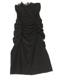 Dolce and Gabbana Strapless Black Cocktail Dress