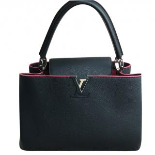 Louis Vuitton Black Capucines MM bag with reciept