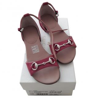 Gucci pink girl's sandals