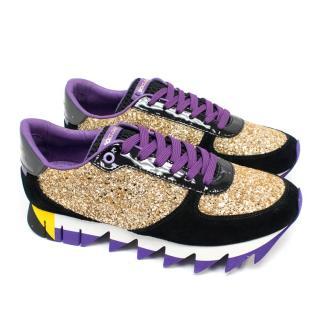 Dolce & Gabbana Glitter Purple Trainers