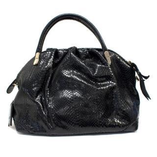 Nina Ricci Black Python Handbag