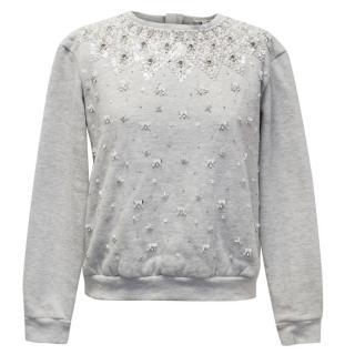 Manoush Grey Embellished Sweatshirt