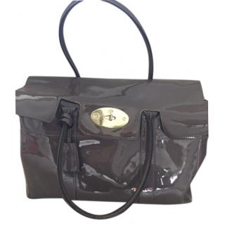 Mulberry Grey Patent Bayswater