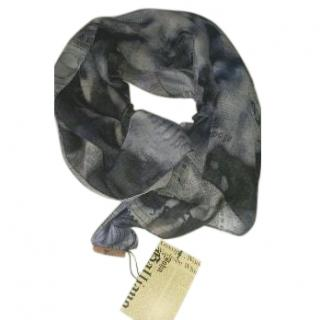 John Galliano printed scarf